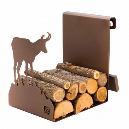 Stojak stalowy do drewna na opał Made in Italy - Stambecco