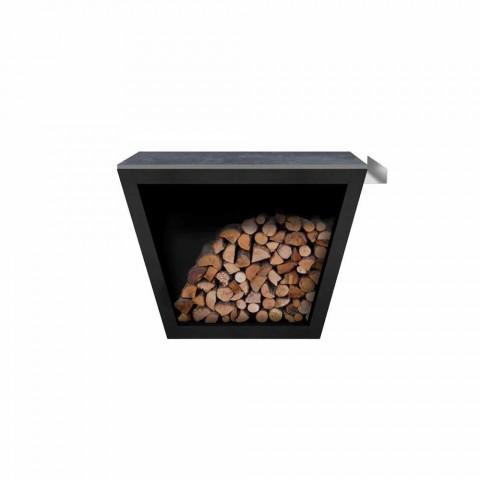 Wewnętrzny lub zewnętrzny design Uchwyt na drewno opałowe z blatem - Esplanade
