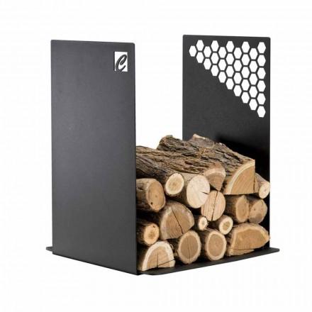 Pojemnik na drewno stalowy do wnętrz- PLU Made in Italy