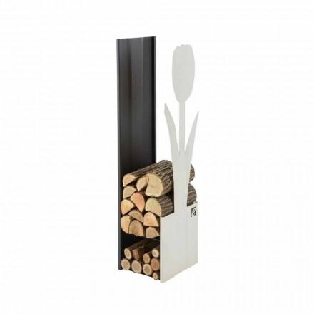 Stojak na drewno stalowy do wnetrz Caf Design - PLV F