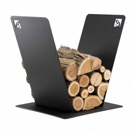 Kosz na drewno kominkowe stalowe do wnętrz Caf Design-PVV