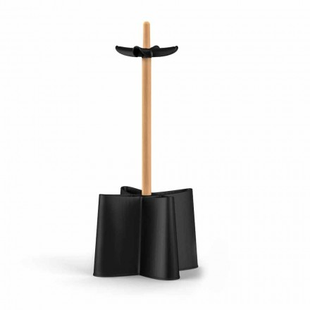 Stojak na parasol design drewno bukowe i polipropylen model Nurri
