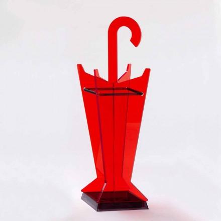 Stojak na parasole o nowoczesnym designie z kolorowego metakrylanu Made in Italy - Tato