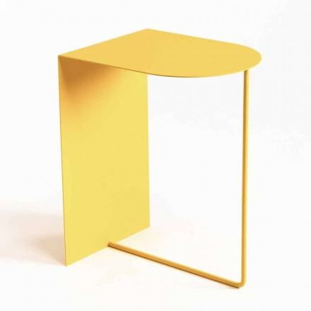 Nowoczesny stojak na czasopisma z kolorowej stali Made in Italy - Marinella