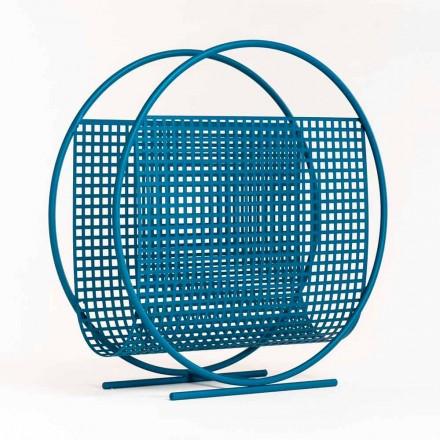 Okrągły stalowy stojak na czasopisma Made in Italy - Chochla