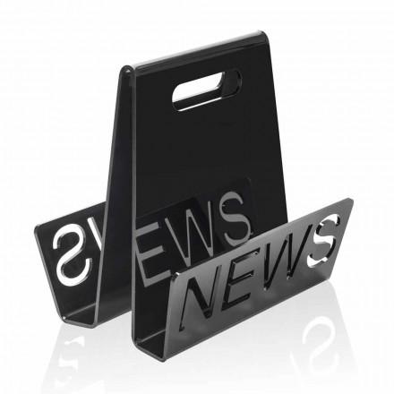 Stojak na magazynki z czarnego lub przezroczystego pleksiglasu Made in Italy - Omar
