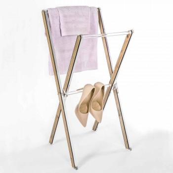Design Wieszak na ręczniki podłogowe z przezroczystej pleksi lub drewna - Stendio