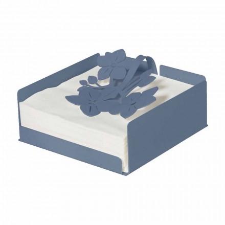 Nowoczesny kwiatowy serwetnik z cennego żelaza Made in Italy - Marken