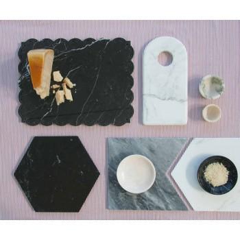 Design Egg Cup w białym marmurze Carrara Made in Italy, 2 sztuki - Picca
