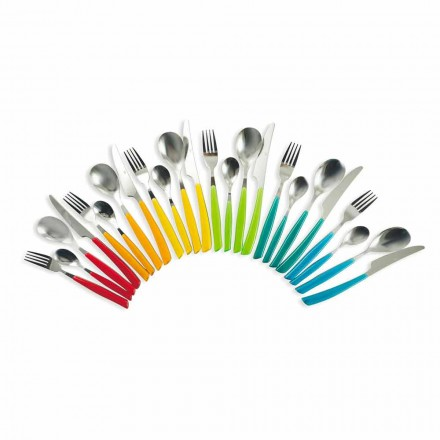 Zaprojektuj sztućce 24 sztuki ze stali i plastiku Pełna obsługa - Maroko