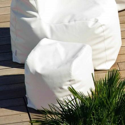 Pufa Cloud design z ekoskóry nautycznej  biały made in Italy
