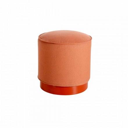 Zewnętrzny puof z polietylenu i skóry lub tkaniny - Mara Slide