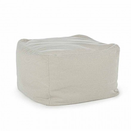 Kwadratowa pufa zewnętrzna pokryta wodoodporną tkaniną, Homemotion - Lydia