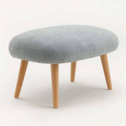 Zaprojektuj puf z tkaniny z podstawą z litego drewna bukowego Arezzo