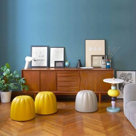 Miękka kolorowa pufa Slide Gelee z poliuretanu wyprodukowana we Włoszech
