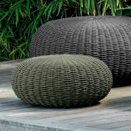 Mała pufa i okrągły Jackie by Talenti z nowoczesnym designem do ogrodu