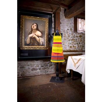 Cenny ręcznie malowany ręcznie robiony fartuch z konopi Made in Italy - marki