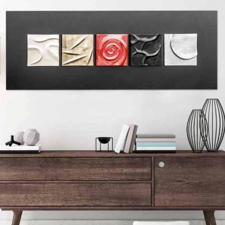 Obraz abstrakcyjny design dekorowanty ręcznie Moma