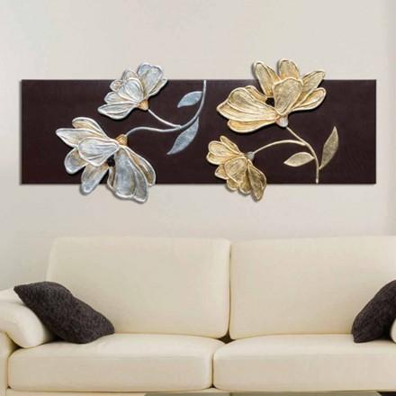 Obraz nowoczeny kwiaty wykonany ręcznie, model Herman