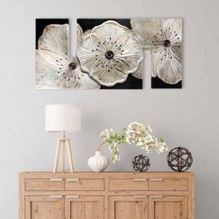 Obraz z kwiatami nowoczesny Petunia Piccola Argento