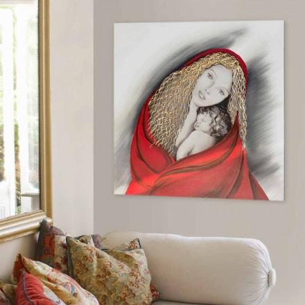 Obraz na ścianę wykonany ręcznie Madonna by Viadurini Decor