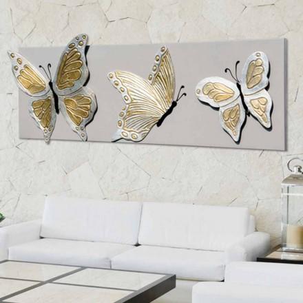 Obraz nowoczesny z motylami dekorowanymi ręcznie, Stephen