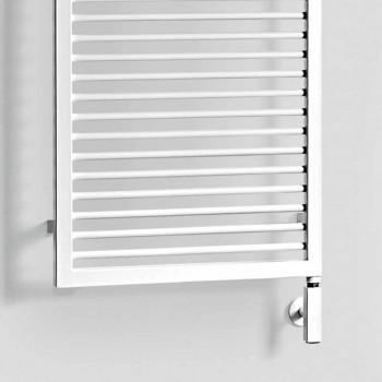 Elektryczny grzejnik na ręczniki z białej stali - Shadow by Scirocco