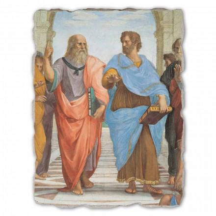 "Raffaello Sanzio freski ""Szkoła Ateńska"" duże Platon i Arystoteles"