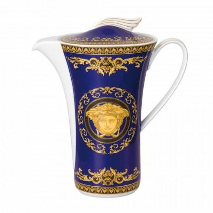 Rosenthal Versace Medusa Blue dzbanek do kawy dla 6 osób