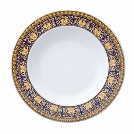 Rosenthal Versace Medusa Blue Plate z nowoczesną podstawą porcelanową