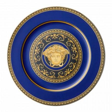 Rosenthal Versace Medusa Niebieska płytka zastępcza z porcelany