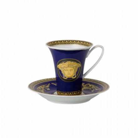 Rosenthal Versace Medusa Blue Wysoka filiżanka porcelany