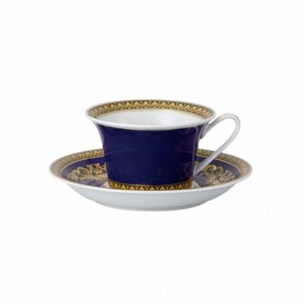 Rosenthal Versace Medusa Blue Filiżanka nowoczesnej porcelany