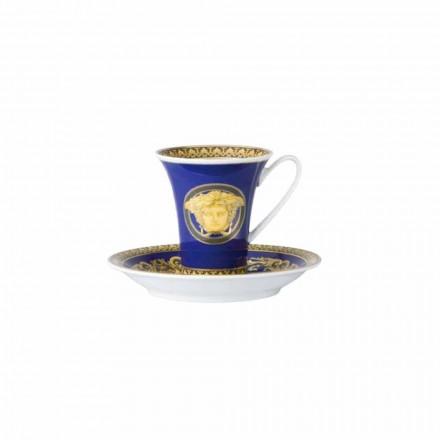 Rosenthal Versace Medusa Blue Porcelanowa filiżanka do kawy