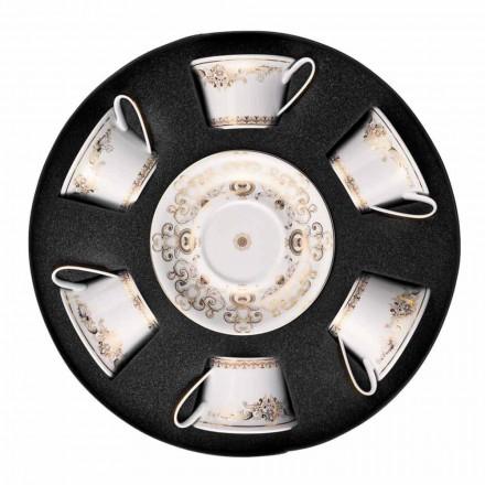 Rosenthal Versace Medusa Gala Gold zestaw filiżanek do herbaty 6 szt