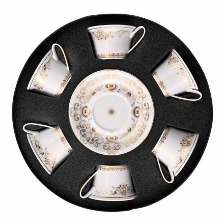 Rosenthal Versace Medusa Gala porcelanowa filiżanka 6 sztuk