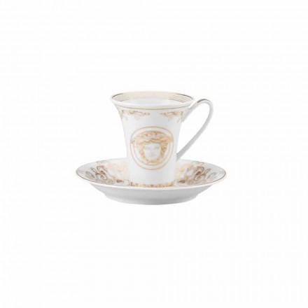 Rosenthal Versace Medusa Gala Porcelanowa filiżanka do kawy