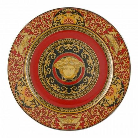 Rosenthal Versace Red Medusa Uchwyt na talerze 30cm z porcelany