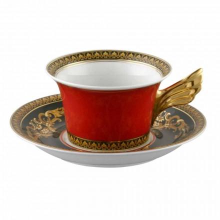 Rosenthal Versace Medusa Rosso Teacup nowoczesny design porcelany