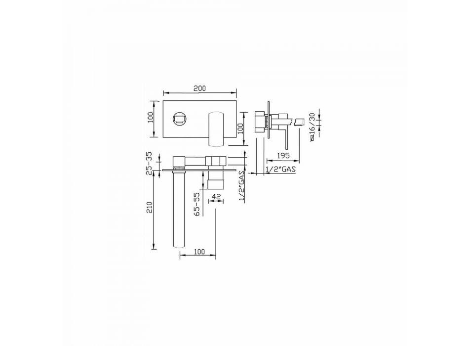 Bateria ścienna Design, pojedyncza płyta Made in Italy - Sika