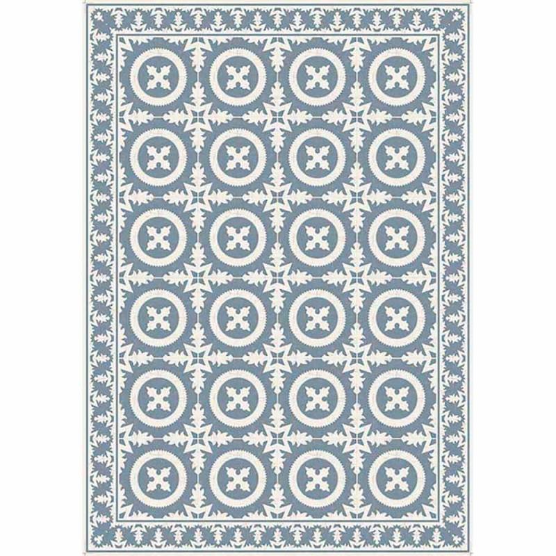 Beżowy lub niebieski wzorzysty bieżnik z PVC i nowoczesnego poliestru - Bondo