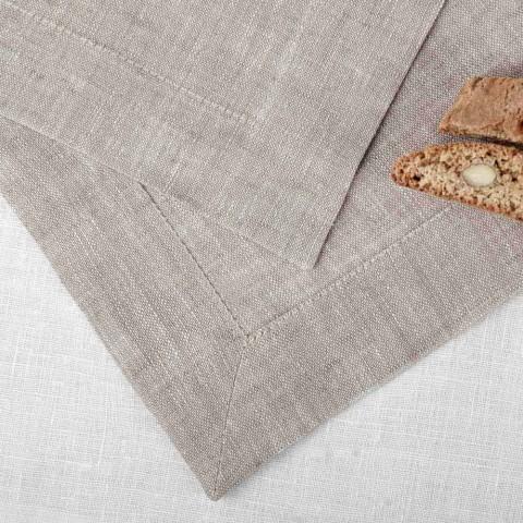 Bieżnik z czystego naturalnego lnu 50x150 cm Made in Italy - Poppy