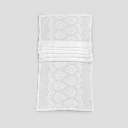 Bieżnik 100% lniany z luksusowym haftem - Giuggiolo
