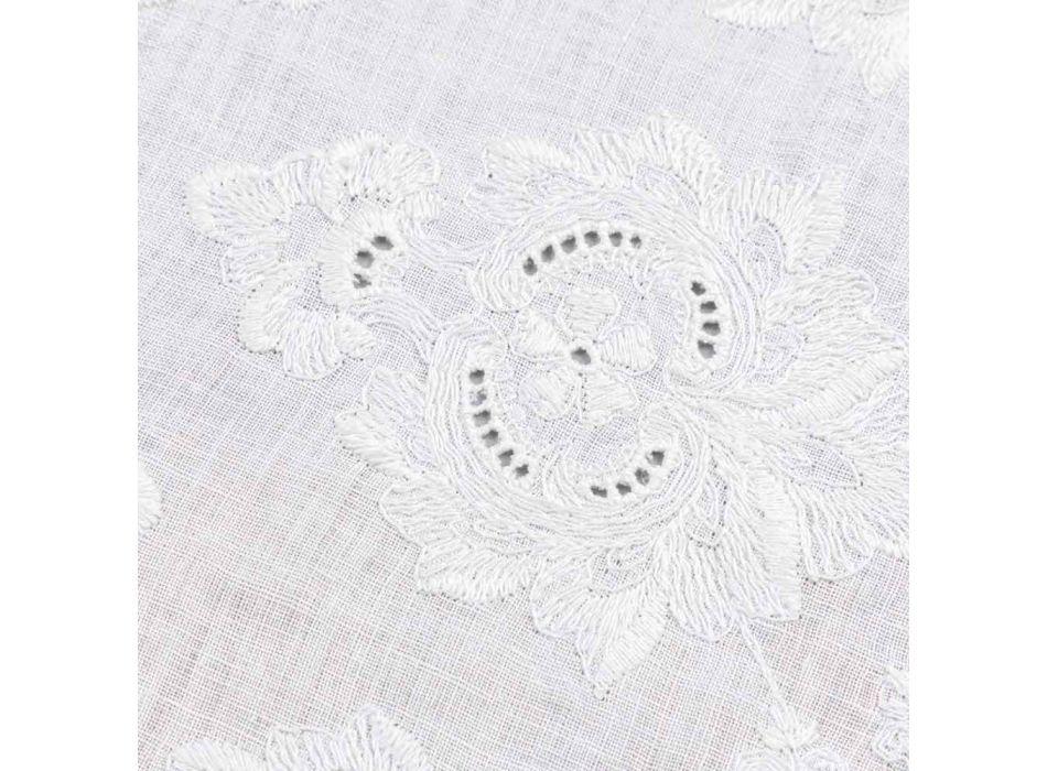 100% lniany bieżnik z włoskim luksusowym haftem - Giuggiolo