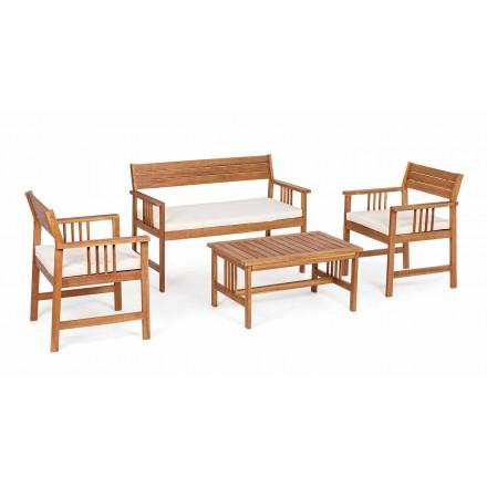 Salon 4 Uzupełnienia w drewnie ogrodowym w drewnie akacjowym - Roxen