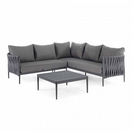 Salon narożny do projektowania ogrodu, Homemotion - zdejmowane poduszki Lucio