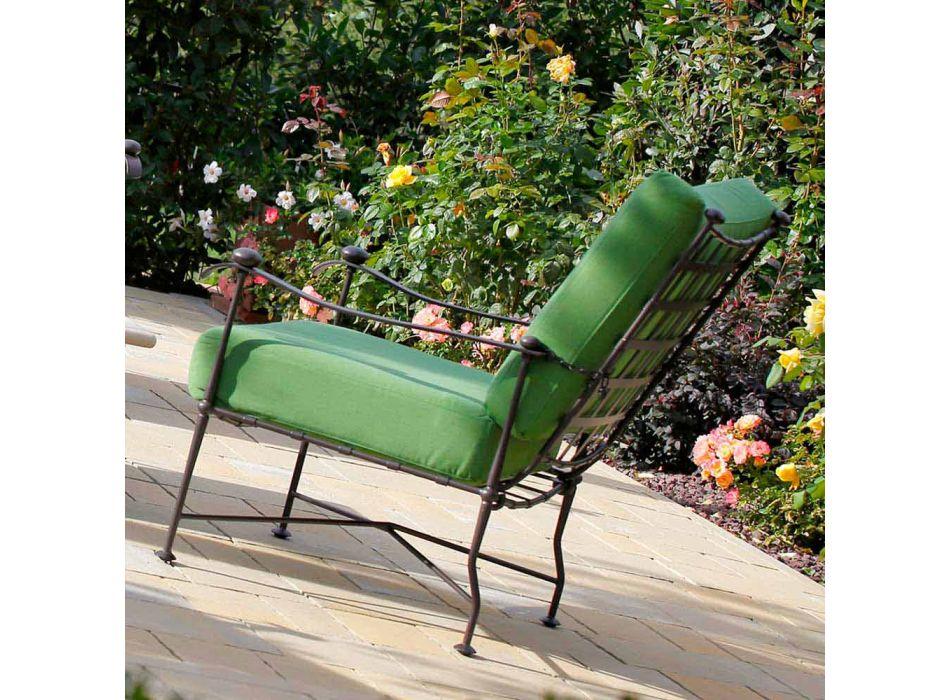 Artisan Outdoor Living Room w żelaznym wykończeniu grafitowym Made in Italy - Lietta