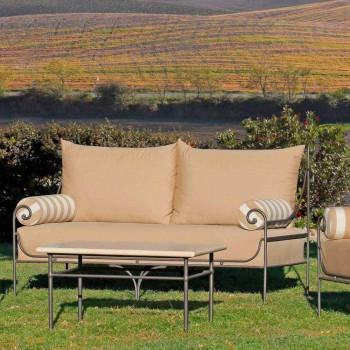 Artisan Garden Lounge z żelazną konstrukcją Made in Italy - Lisotto