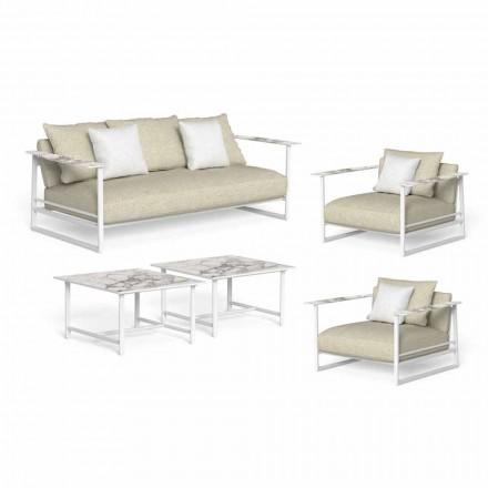 Luksusowy salon ogrodowy, sofa, fotele i stoliki kawowe - Riviera by Talenti