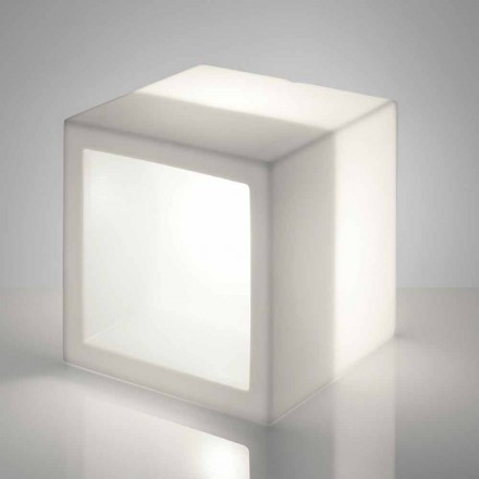 Półka oświetlana kwadratowa Slide Open Cube design, made in Italy